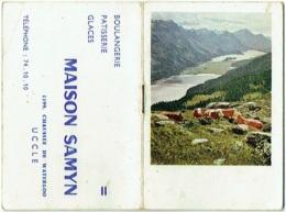 Calendrier/Agenda Miniature. Uccle. Maison Samyn. 1962. - Calendarios