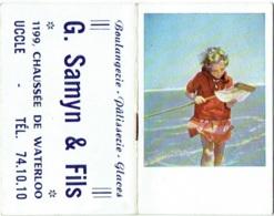 Calendrier/Agenda Miniature. Uccle. Maison Samyn. 1955. - Calendriers