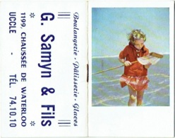 Calendrier/Agenda Miniature. Uccle. Maison Samyn. 1955 - Calendriers
