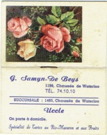 Calendrier/Agenda Miniature. Uccle. Maison Samyn- De Beys. 1954. - Calendriers