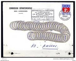 Am4153 Ardennes Mezières Secap Apprenez Un Métier Du Bâtiment ../ Lettre 18/01/66 - Mechanical Postmarks (Advertisement)