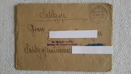 Feldpostbrief 1944 An Absender Zurück Gefallen Für GD Mit Inhalt Fliegerhorst Feldpost Brief - 1939-45