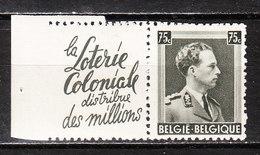 PU101*  Leopold III Col Ouvert - Koloniale Loterij - MH* - LOOK!!!! - Advertising