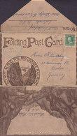 United States Folding Post Card AURORA Colo 1912 Scenes Along The Rio Grande Rail Road Royal Gorge - Aurora (Colorado)