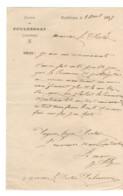 B16  1897 Courrier Mairie De Pouldergat  29 - Poststempel (Briefe)