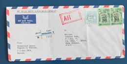 STORIA POSTALE, BUSTA DI POSTA RACCOMANDATA AEREA - POSTAL HISTORY, REGISTERED AIRMAIL LETTER, ANNO/YEAR 1994 - Bahrain (1965-...)