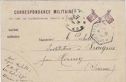 Militaire Correspondance Miltaire  Hornoy 80 - Guerre 1914-18