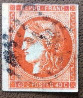 Numéro 48 Oblitéré, Pas D'aminci. - 1870 Emission De Bordeaux
