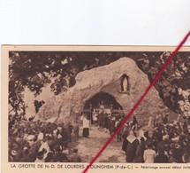CP 62 -   MOLINGHEM    - La Grotte De Notre Dame De Lourdes  - Pélérinage Annuel ébut Juillet - France