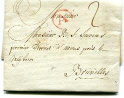 Belgiqur Precurseur ANVERS A Cercle Rouge-Bxl 1778 Taxé 2 + Texte Herlant Type 4 N°12 - 1714-1794 (Oesterreichische Niederlande)
