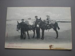 OSTENDE 1911 - PLAGE - ENFANTS A ANE - SUGG SERIE 7 N 61 - Oostende