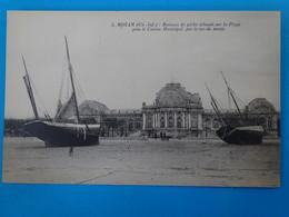 17) Royan - 5 - Raz De Marée Du 9 Janvier 1924 - Bateaux De Péche échoué Sur La Plage Près Le Casino  - EDIT - Nozais - Royan