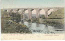 Les Environs De BEAUMONT - Le Grand Pont De SOLRE-SAINT-GERY - RARE VARIANTE COLORISEE - Cachet Vde La Poste 1905 - Beaumont