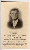 Doodsprentje Felix VAN ROOST °1904 Werchter BURGEMEESTER BROUWER INGENIEUR JACK-OP +1956 Werchter // CEULEN - Andachtsbilder