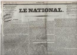 LE NATIONAL 06 03 1831 POLOGNE - ESPAGNE - ROME - ANGLETERRE - BELGIQUE - BOLOGNE - LIVOURNE - LYON - PRISON DE LA SANTE - Journaux - Quotidiens