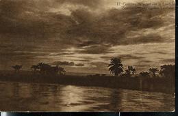 Carte Illustrée Neuve N° 19.  Vue 17: Coucher De Soleil Sur Le Lualaba. - Entiers Postaux