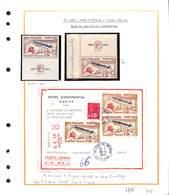 1422  - FAUX D'ITALIE - Tirage 960 Exemplaire - 1 Ex Neuf Et 3ex Sur Lettre Recommandée Ayant Voyagée -+1ex Auten  RARE - Covers & Documents