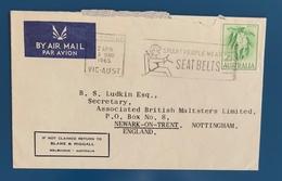 STORIA POSTALE, BUSTA DI POSTA AEREA - POSTAL HISTORY, AIR MAIL LETTER - 1952-65 Elizabeth II : Pre-Decimals