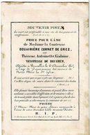 BRUXELLES - Comtesse Douairière CORNET De GREZ - Née Thérèse Antoinette Vicomtesse De BEUGHEM - Décédée 1847 - Images Religieuses