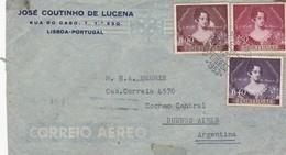 JOSE COUTINHO DE LUCENA. PORTUGAL ENVELOPE CIRCULEE DE LISBOA A BUENOS AIRES, ARGENTINE ANNEE 1953 PAR AVION -LILHU - 1910-... Republic