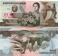 NORTH KOREA 1 WON 1992 SPECIMEN SERIE UNC - Korea, Noord