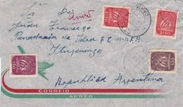 PORTUGAL ENVELOPE CIRCULEE DE CARIA A ITUZAINGO, ARGENTINE ANNEE 1953 PAR AVION -LILHU - 1910-... Republic