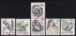 Sweden 1989, Birds, Animals, Complete Set Vfu - Gebraucht