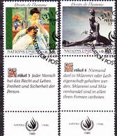 UNO Genf Geneva Geneve - Menschenrechte Artikel 3+4 Deutsch (MiNr: 181/2 ) 1989 - Gest Used Obl - Usati