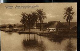 Carte Illustrée Neuve N° 19.  Vue 16 : NYONGA - Poste Commercial Sur Le Lualaba. - Entiers Postaux