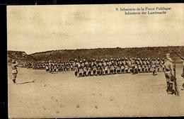 Carte Illustrée Neuve N° 19.  Vue 9 : Infanterie De La Force Publique. - Entiers Postaux