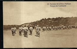 Carte Illustrée Neuve N° 19.  Vue 12 : Cyclistes De La Force Publique . - Entiers Postaux