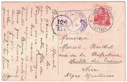 1943 - CARTE POSTALE LE LOCLE SUISSE Avec CACHET UFFICIO CENSURA POSTA ESTERA (CENSURE) Pour NICE FRANCE MILITAIRE WW2 - Storia Postale