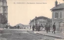 75 - PARIS 17 ème - Rue Saussure - Boulevard Péreire ( Animation ) - CPA - Seine - District 17