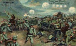 Feldskizze. Flucht Der Russen Aus Den Karpathenpässen 1914/15 WWI WWICOLLECTION - Oorlog 1914-18