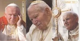 3 X Mexico Chip Phonecard Pabst Pope Juan Pablo II - Trinité & Tobago