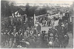 53 QUELAINES - Fête Jeanne D'Arc 1909 - Jeanne Et Ses Bergères - Altri Comuni