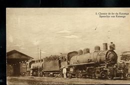Carte Illustrée Neuve N° 19.  Vue 5 : Chemins De Fer Du Katanga;  Locomotives à Vapeur - Entiers Postaux