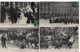 LOT 5 CPA - ROUEN 1911 - M. FALLIERES Aux Fêtes Du Millénaire Normand - Rouen