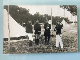 Carte Photo Groupe D'officiers Identifiés - Personen
