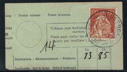 Suisse // Schweiz // Non Classée // Valais //  Oblitération Valaisanne Sur Fragment (Ausserberg) - Ohne Zuordnung