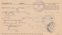 Slovenia 1943 Italian Occupation Povratnica (aviso) With Scarce Postmark LONGATICO DI SOPRA - Slovenia