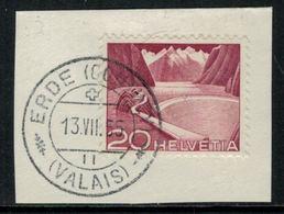 Suisse // Schweiz // Non Classée // Valais //  Oblitération Valaisanne Sur Fragment (Erde) - Ohne Zuordnung