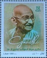 Lebanon NEW 2019 MNH - Joint Issue Stamp, 150th Of India Mahatma Ghandi - Libanon