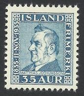 Iceland, 35 A. 1935, Sc # 198, Mi # 186, MNH - Nuovi