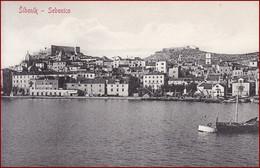 Šibenik (Sebenico) * Hafen, Schiffe, Burg, Strand * Kroatien * AK2613 - Croazia