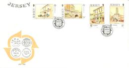 Jersey 1990 Europa: Postal Buildings Mi 508-511 FDC - Jersey