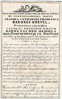 SUIDRAS - Barones HOEVEL Aleijda Catharina -- Echtgen. C.F.W. Baron VAN DER HEIJDEN Van DOORNENBURG En SUIDRAS  +1848 - Images Religieuses