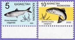 Kazakhstan 2020. Definitive Issue. Fauna. Red Book Of Kazakhstan. Fish.  MNH** - Kazakhstan