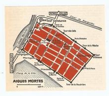 CARTE PLAN 1960 - AIGUES MORTES - TOUR CONSTANCE CANAL DU BOURGUIDOU CHENAL MARITIME - Cartes Topographiques