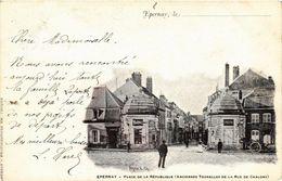 CPA ÉPERNAY - Place De La Republique (Anciennes Tourelles De La Rue De (742210) - Epernay